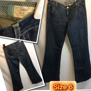 Curvy Gap stretch BootCut Jeans size 6
